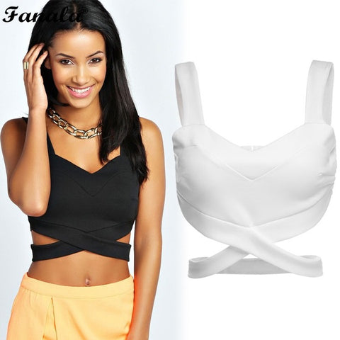 Women Bra Bustier Sexy Seamless Bra Crop Top Tank Tops Corset Clubwear Plus Size S-L Black White Fashion Drop shipping-quick deal box