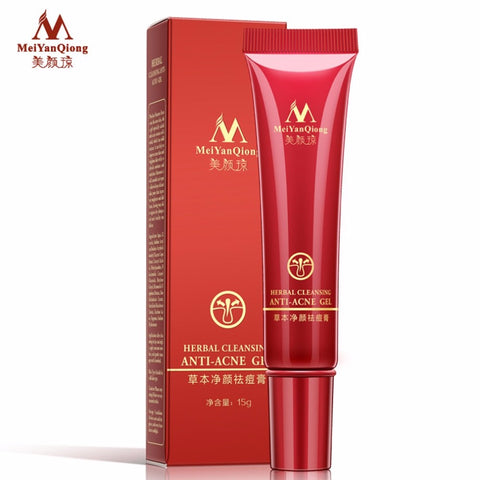 MeiYanQiong Herbal Cleansing Acne Cream Facial Makeup Repair Skin Pores Acne Removing Cream Beauty Face Anti-Acne Gel-quick deal box