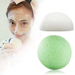 2 Colors Natural Konjac Konnyaku Sponge Facial Puff Face Wash Cleansing Sponge 2018 Best Selling Products