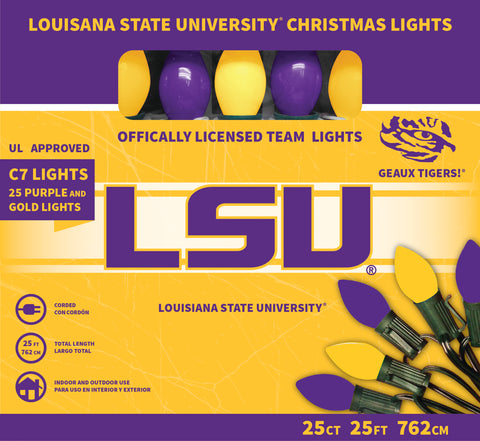 Louisiana State University Christmas Lights