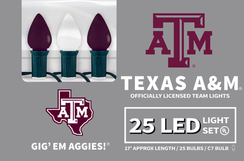 Texas A and M LED Lights