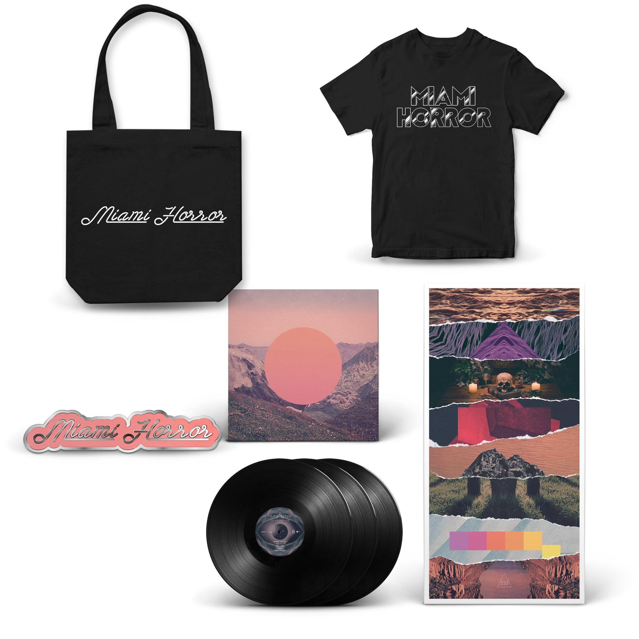 Illumination - 10 Anniversary Edition Vinyl, T-Shirt, Tote Bag, and Pin Bundle