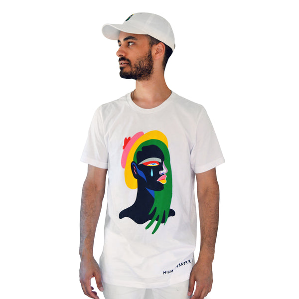 """Leila"" Tee Shirt - Designed By Lynnie Z (White)"