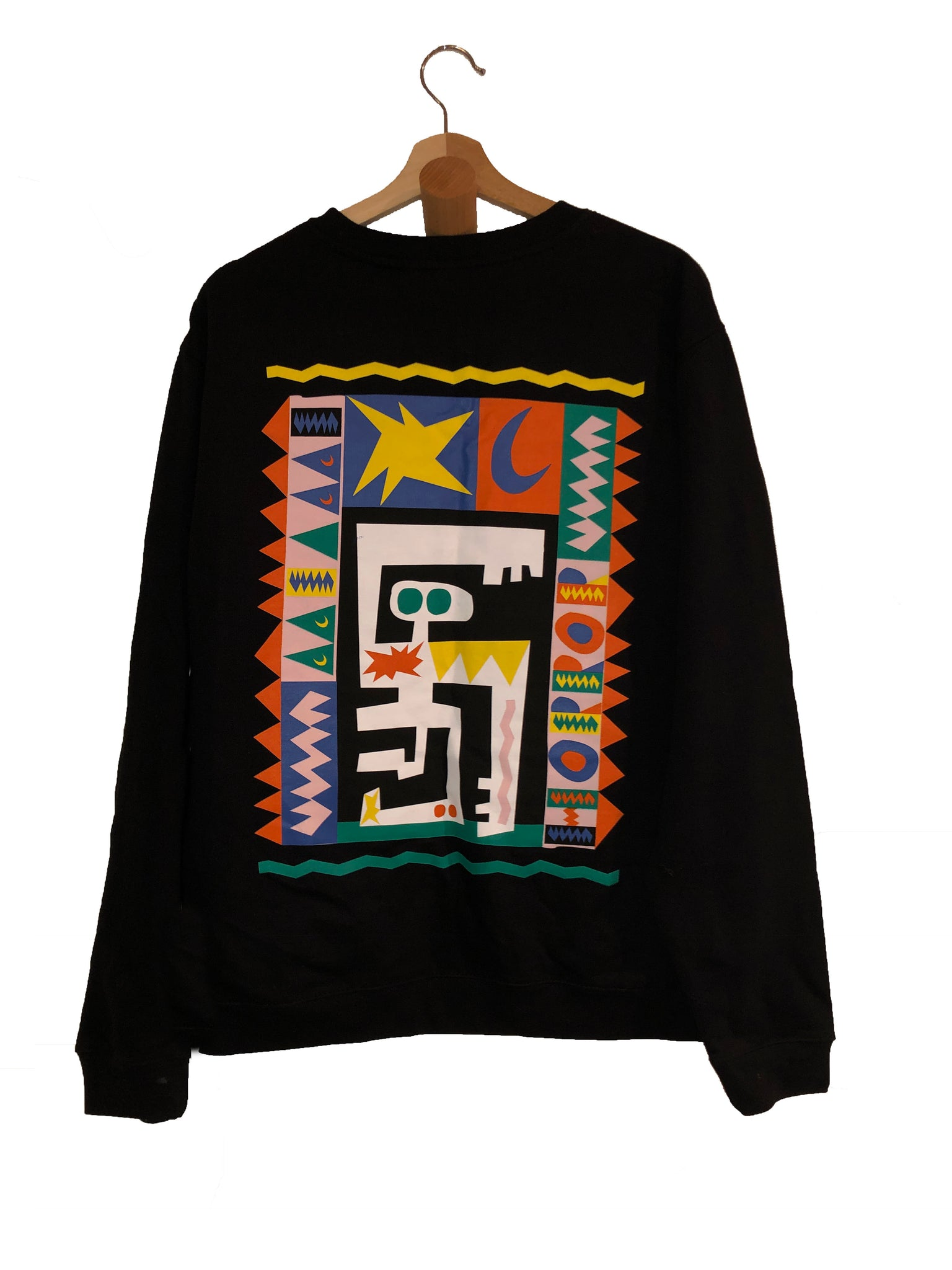 Azimba - Black Crewneck Sweater
