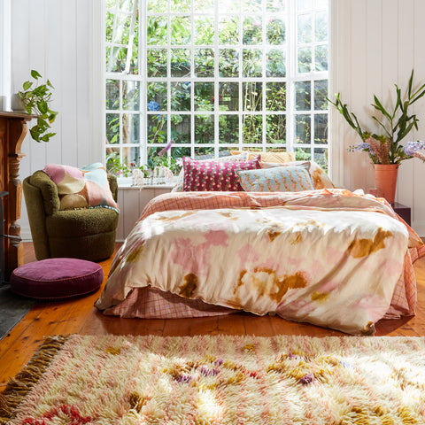 camille by sage and clare, bedding, rugs, online boutique, tie dye, online homewares, homewares, bedroom