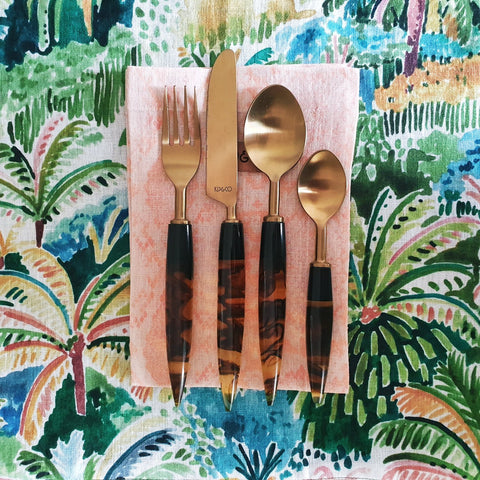 smokey amber cutlery set kip and co