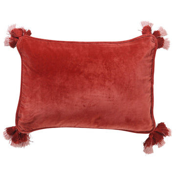 Blood Orange Velvet Souk Cushion - Kip & Co.