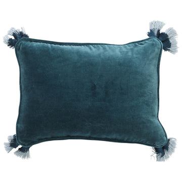 Green Sea Velvet Souk Cushion - Kip & Co.
