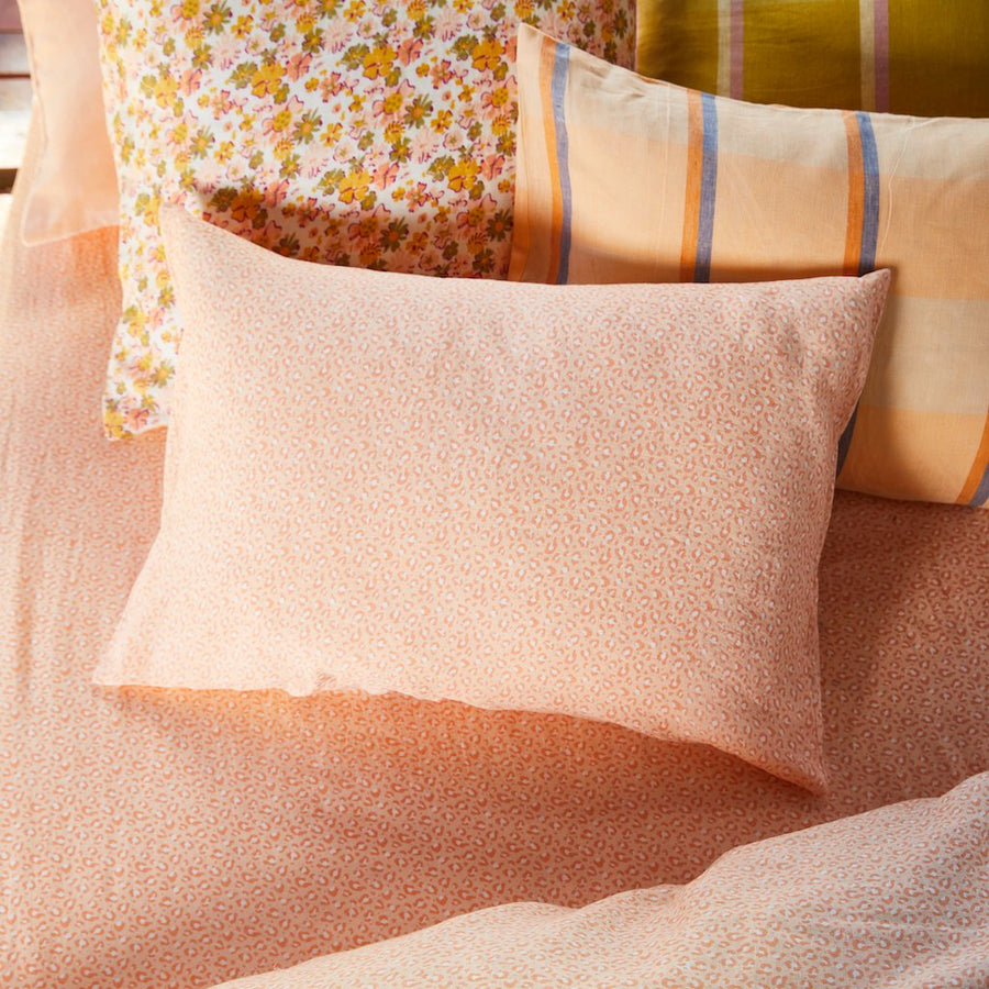 Ajo Linen Pillowcase Set - Melon - Sage & Clare