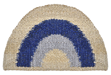 Aquarius Round Doormat- Blue/Silver
