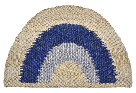 Fringe Rug - Indigo and White