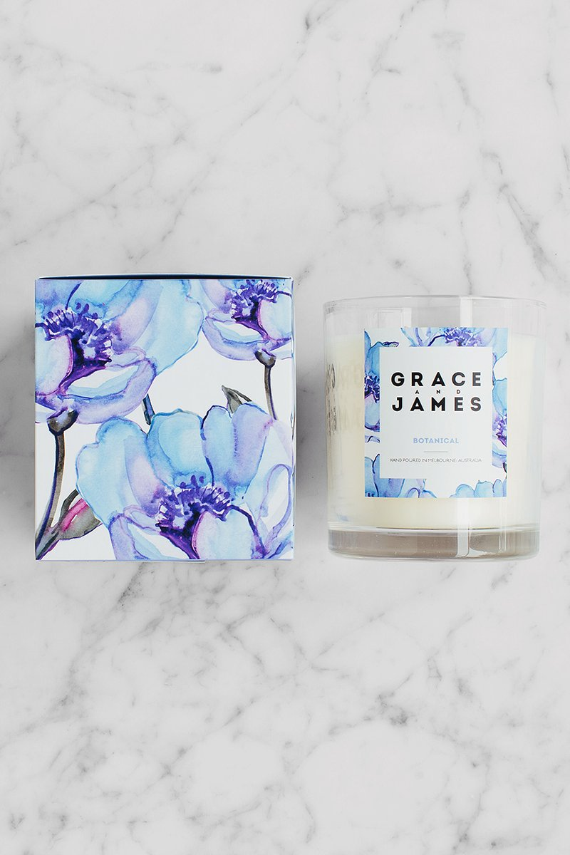 Botanical Candle - Grace & James