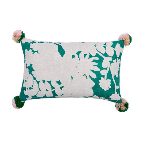 Poppy Green Pillow - Bonnie & Neil