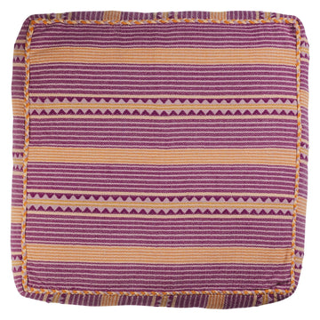 Cadence Woven Floor Cushion - Grape - Sage & Clare