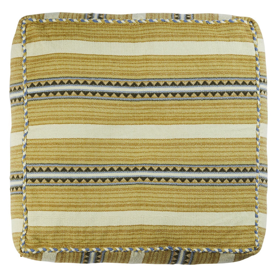 Cadence Woven Floor Cushion - Pear - Sage & Clare