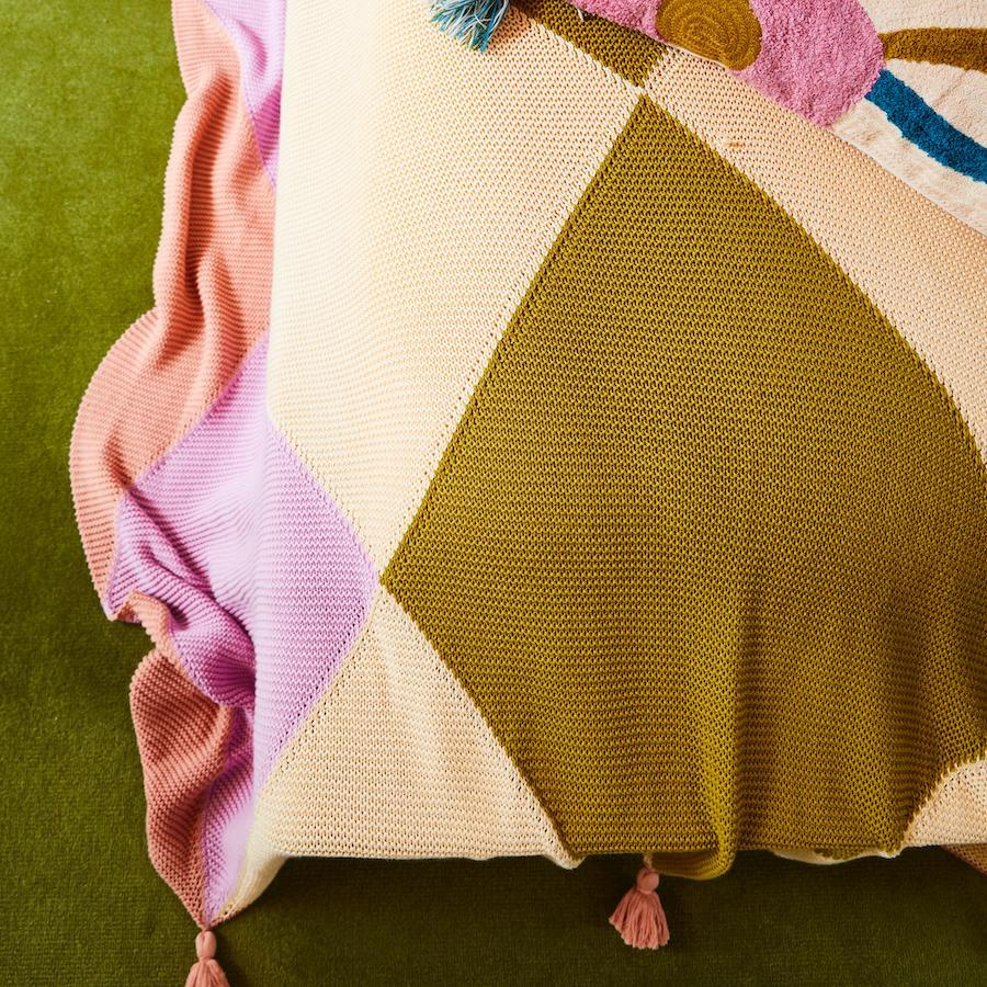 Eunice Harlequin Throw - Sage & Clare