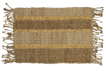 Jute Gold Striped Doormat