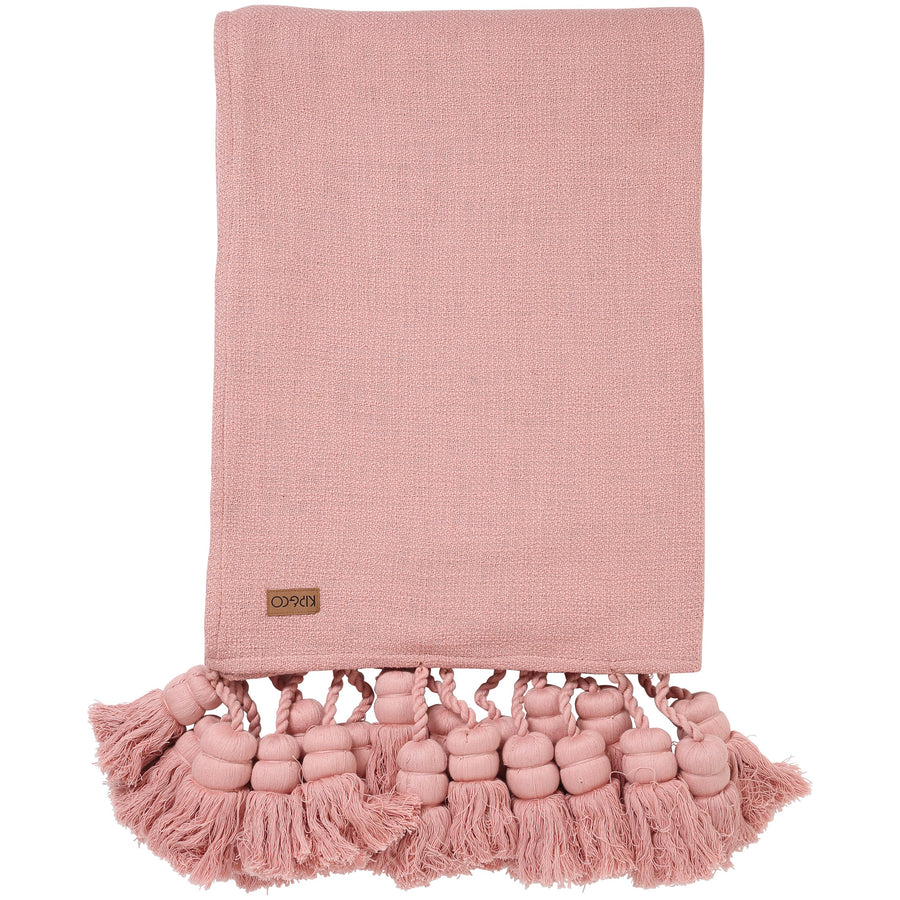 Misty Rose Tassel Throw - Kip & Co.