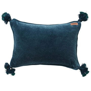Teal Velvet Souk Cushion - Kip & Co.