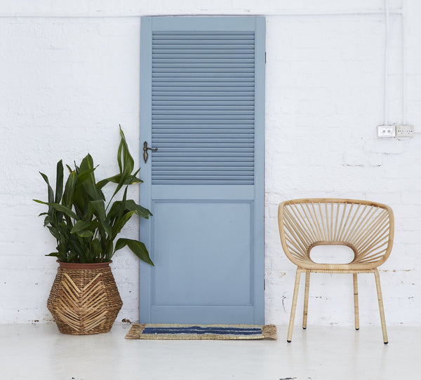Cobalt Striped Doormat