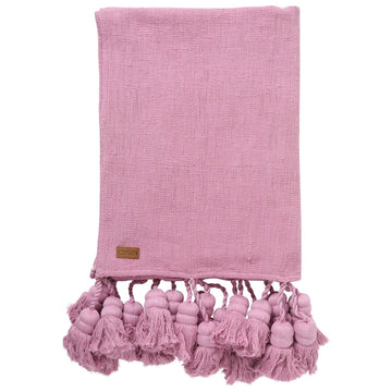 Mulberry Pie Tassel Throw - Kip & Co.