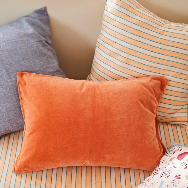 Mathilde Stripe Euro Pillowcase Set - Cantaloupe - Sage & Clare