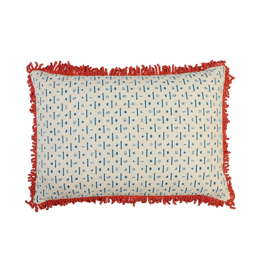 Navire fringe Pillow - Sage & Clare