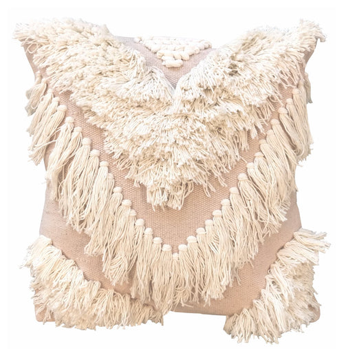 Tribe Cushion - White Blush