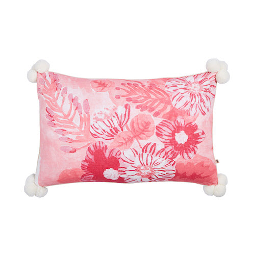 Camellia Pink RV Leopard Pom Pom Pillow - Bonnie & Neil