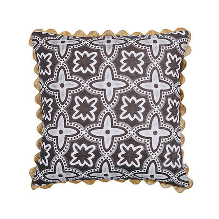 Leopard Black Pom Pom Pillow - Bonnie & Neil
