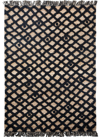 Diamond Weave Rug - Black