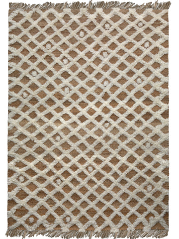 Diamond Weave Rug - White
