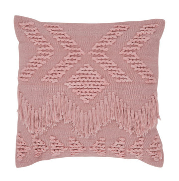 Fringe Cushion - Blush