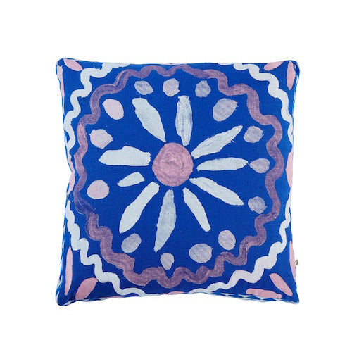 Heirloom Blue Linen Pillow - Bonnie & Neil