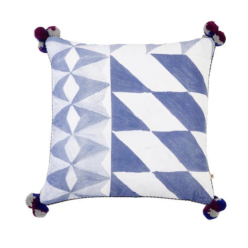 Mosaic Blue Cushion - Bonnie & Neil
