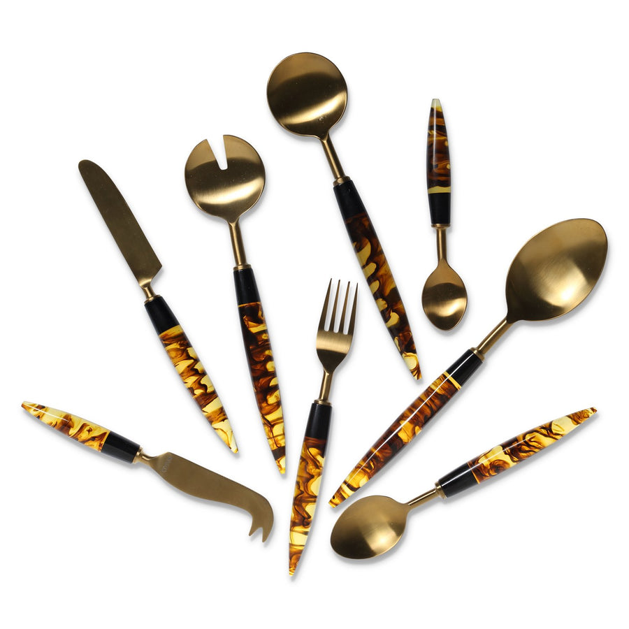 Smokey Amber Cutlery Set Of 4 - Kip & Co.
