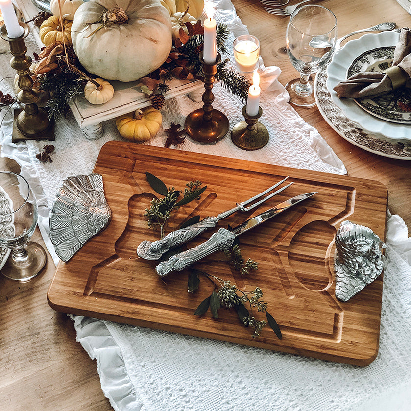 Carving sets and carving boards