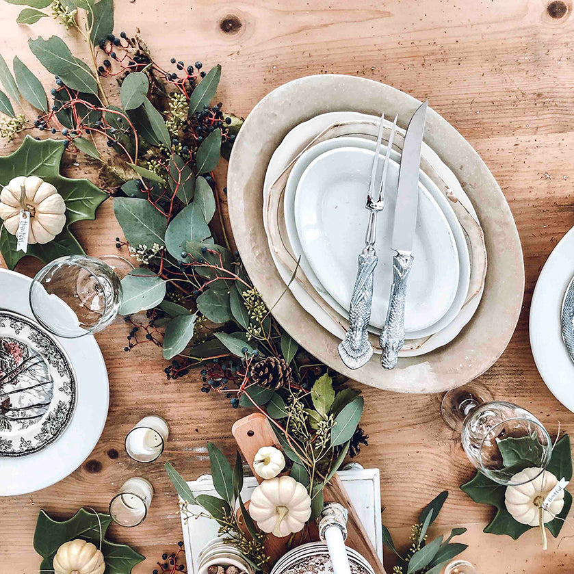 Fall and winter tablescape