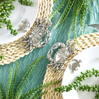 Crab twisted seagrass placemats