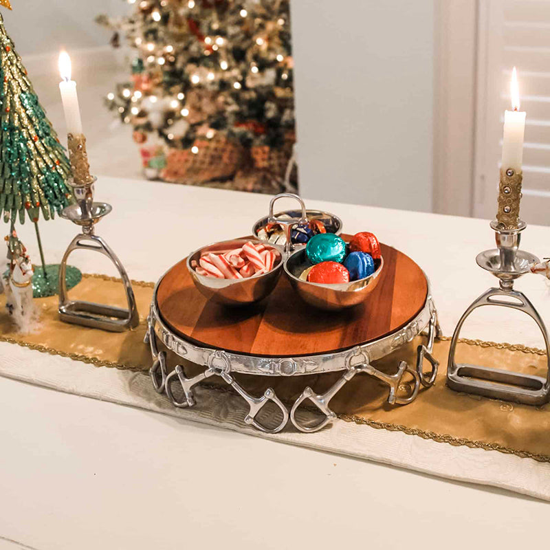 Equestrian style Christmas table