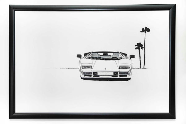 Countach Black and White Fine Art Print