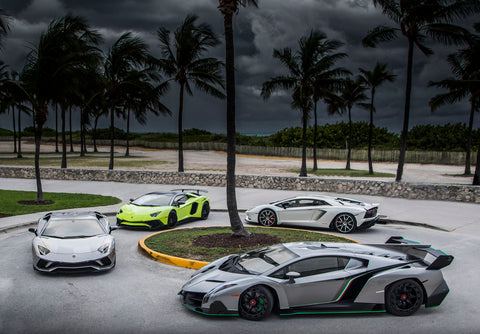 Lamborghini Beach Party
