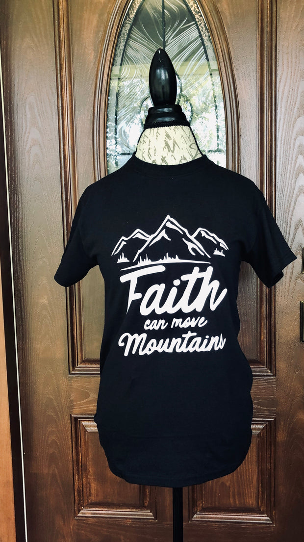 Faith Can Move Mtns T-Shirt (Black)