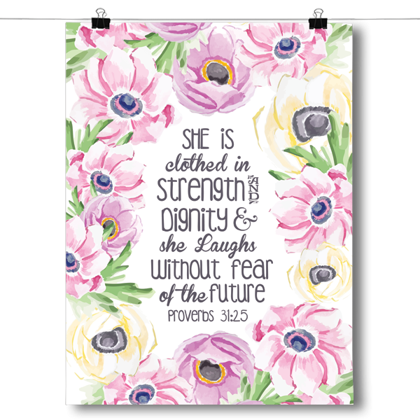 Clothed in Strength Without Fear Proverbs 31:25
