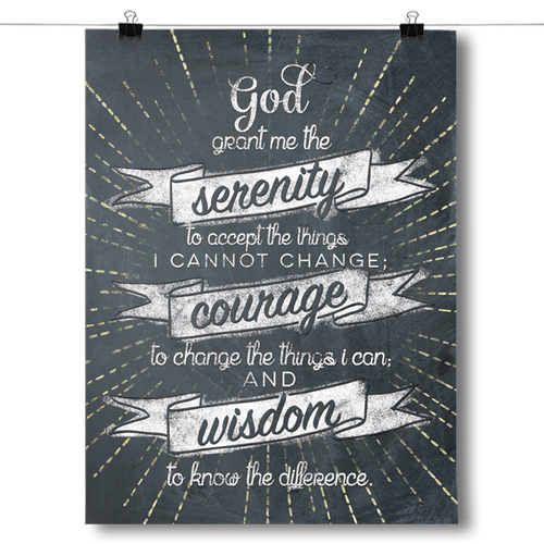 Serenity Prayer - Chalk Background