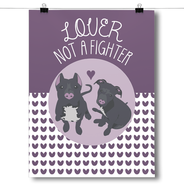 Lover Not A Fighter Pit Bull Dog