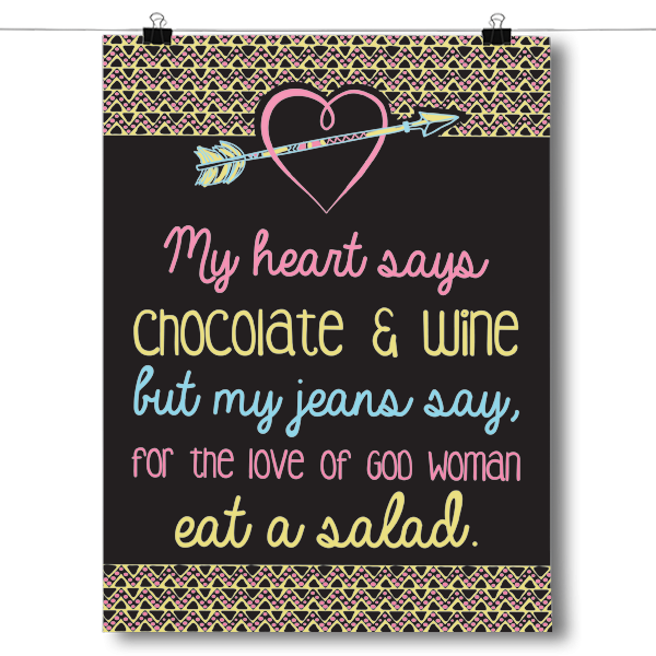My Heart Says Chocolate and Wine