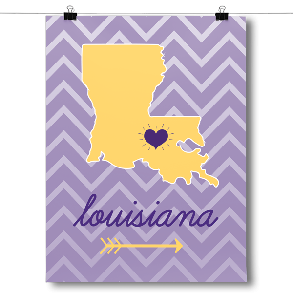 Louisiana State Chevron Pattern
