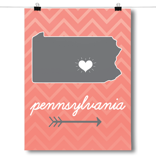 Pennsylvania State Chevron Pattern