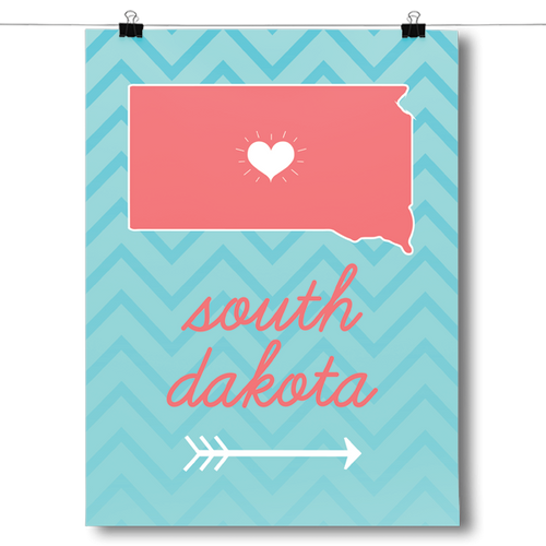 South Dakota State Chevron Pattern
